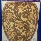 Decorative Bathroom Tuscany Brown Scroll Pattern TOILET TATTOO Gold Tuscan Sun