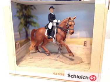 Schleich Gift Set #42035 Dressage Horse & Rider Set - Retired NEW in Box Set