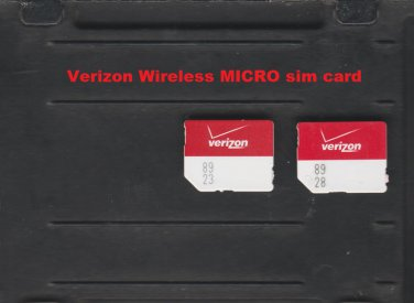 NEW Verizon Wireless MicroSim Card 4G LTE 3FF Micro SIM for Smartphone or Tablet VZW