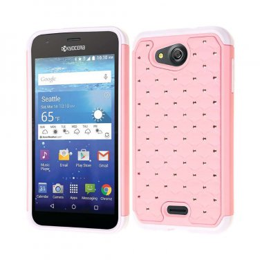 For Kyocera Hydro Wave C6740/Air C6745 Hybrid Hard Rubber Silicone Case Cover