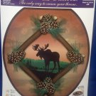 Toilet Tattoo Moose Cabin Retreat Seat Cover Applique Bathroom Decor