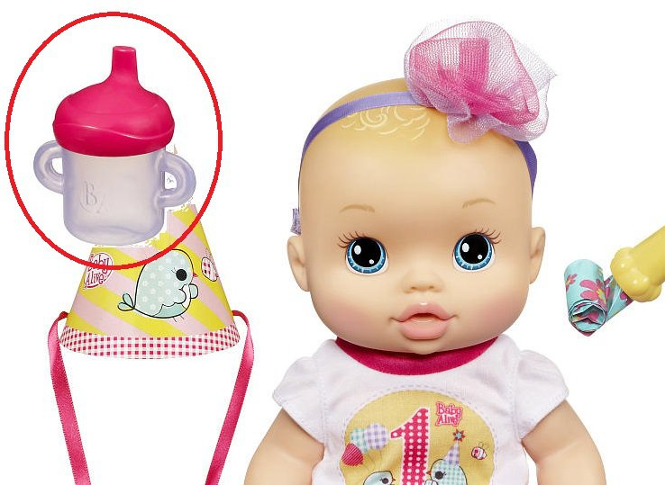 Hasbro SIPPY CUP for My Baby Alive Juice Water Interactive Girls Toy Doll Bottle
