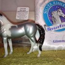 "2014 Breyerfest Single Day #711178 ""Glimmer"" Silver Pinto Stablemate G3 Standing Stock Horse"