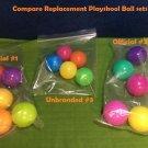 5pc Plastic Balls PLAYSKOOL for Elefun Busy Ball Popper Poppin Park Stack N Drop