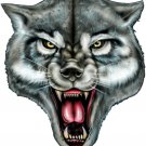 "6"" printed airbrushed design wolf face vinyl decal sticker for any smooth surface."