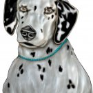 "6"" printed airbrushed design dalmation dog vinyl decal sticker for any smooth surface."