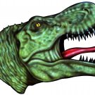 "6"" printed airbrushed design dinosaur vinyl decal sticker for any smooth surface."