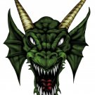 "6"" printed airbrushed design dragon head vinyl decal sticker for any smooth surface."