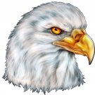"6"" printed airbrushed design bald eagle head vinyl decal sticker for any smooth surface."