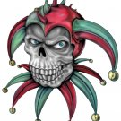 "6"" printed airbrushed design joker skull vinyl decal sticker for any smooth surface."