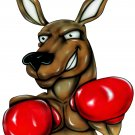 "6"" printed airbrushed design boxing kangaroo vinyl decal sticker for any smooth surface."