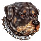 "6"" printed airbrushed rottweiler dog vinyl decal sticker for any smooth surface."