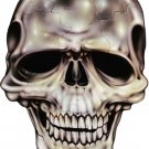 "6"" printed airbrushed  design skull front view vinyl decal sticker for any smooth surface."