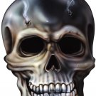 "6"" printed airbrushed  design skull with bullet holes vinyl decal sticker for any smooth surface."