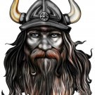 "6"" printed airbrushed  design viking vinyl decal sticker for any smooth surface."
