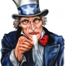 "6"" printed airbrushed  design uncle sam vinyl decal sticker for any smooth surface."