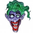 "6"" printed airbrushed  design joker (3) vinyl decal sticker for any smooth surface."