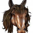 "6"" printed airbrushed  design horse vinyl decal sticker for any smooth surface."