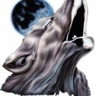 "6"" printed airbrushed  design howling wolf vinyl decal sticker for any smooth surface."