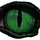 "6"" printed airbrushed  design green eye vinyl decal sticker for any smooth surface."