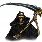 "6"" printed airbrushed  design grim reaper vinyl decal sticker for any smooth surface."