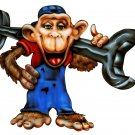 "6"" printed airbrushed  design grease monkey vinyl decal sticker for any smooth surface."