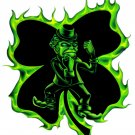 "6"" printed airbrushed  design fighting irish vinyl decal sticker for any smooth surface."