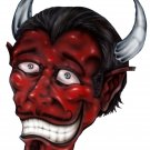 "6"" printed airbrushed  design devil vinyl decal sticker for any smooth surface."