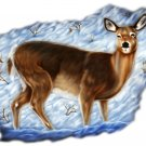 "6"" printed airbrushed  design deer (2) vinyl decal sticker for any smooth surface."