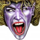 "6"" printed airbrushed  design crazy lady vinyl decal sticker for any smooth surface."