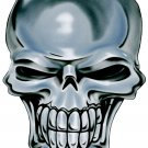 "6"" printed airbrushed  design chrome skull vinyl decal sticker for any smooth surface."