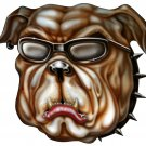 "6"" printed airbrushed  design bulldog vinyl decal sticker for any smooth surface."