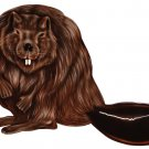 "6"" printed airbrushed  design beaver vinyl decal sticker for any smooth surface."