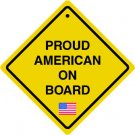 "6"" printed Military patrotic proud american on board vinyl decal sticker for any smooth surface."
