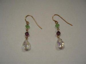 Swarovski crystal drop earrings