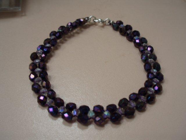 Woven Czech glass bracelet