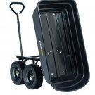 "Gorilla 600lb Capacity Poly Dump Utility Cart Black Dump 10"" Tires Wheel Barrow"