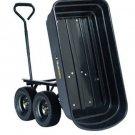 "Gorilla 600lb Capacity Poly Dump Utility Cart Black Dump 10"" Tires Wheel Barrow"