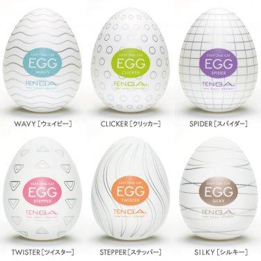Tenga Easy Beat Egg Masturbator - Variety 6 Pack