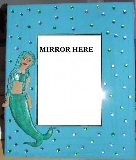 Framed Mermaid Mirror