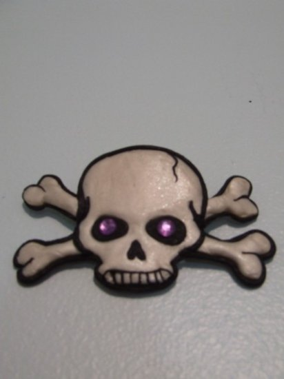 CUSTOM SKULL HAIR CLIP FOR KIDS