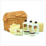 Apple Bath Set in Willow Basket