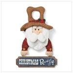 Santa Round Up Door Hanger