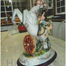 Three boys in a horse, Capodimonte Porcelain