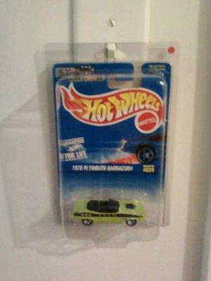 Hot AWheels green Cuda Error Car No floor Board