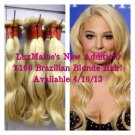 BLONDE VIRGIN BRAZILIAN HAIR, 200g, 8oz Bundle, 613 Blonde Brazilian Hair,