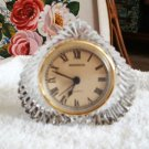 Vintage~Lead Crystal Desk Clock~Shannon of Ireland