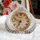 Vintage~Lead Crystal Desk Clock~Shannon of Ireland
