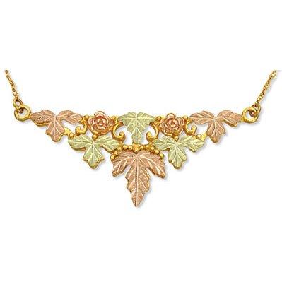 Black Hills Gold Roses Festoon Chain Necklace
