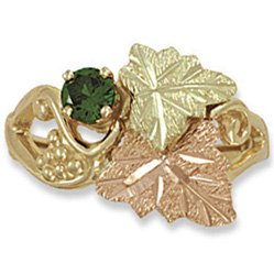 Black Hills Gold Genuine Emerald Ladies Ring
